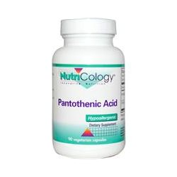 Nutricology, Pantothenic Acid, 90 Veggie Caps