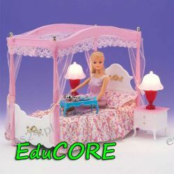 SYPIALNIA LUX  mebelki lalka Barbie EE219 EduCORE
