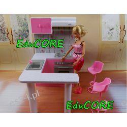 KUCHNIA z BAREM mebelki Barbie e158 prst EduCORE