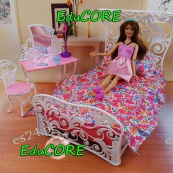 SYPIALNIA BALDACHIM mebelki Barbie ee145 EduCORE