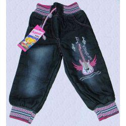 Spodnie pumpki jeans ocieplane.z GITARĄ r.74(6M) Bluzki
