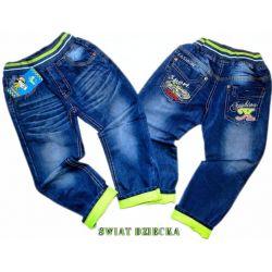 *NOWOŚĆ* SPORT CARS Spodnie jeans 98/104(4) Bluzki