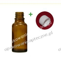 Butelka szklana brązowa nakrętką 50 ml / 100 sztuk
