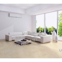 Aranżacja salonu,hiszpańska płytka City Crema Podłogi