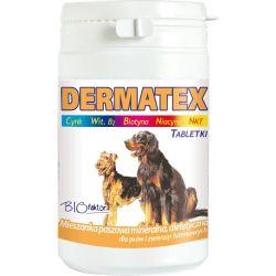 Biofaktor DERMATEX 150 tabletek dla zdrowej skóry i lśniącej sierści psa Puszki i saszetki