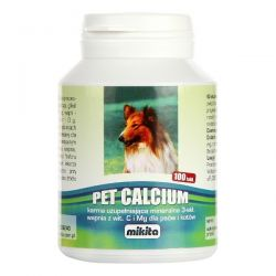 MIKITA Pet Calcium 100 tabletek WAPŃ dla psów i kotów Puszki i saszetki
