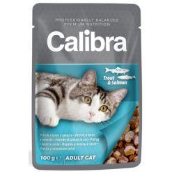 CALIBRA Adult Trout and Salmon 100g mokra karma dla dorosłych wybrednych kotów