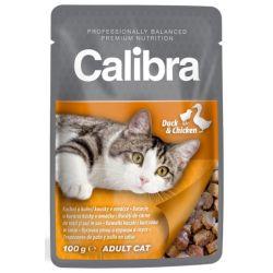 CALIBRA Adult Duck and Chicken 100g mokra karma dla dorosłych wybrednych kotów