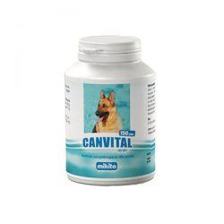 MIKITA Canvital + tran WITAMINY dla psa 150 tabletek Smakołyki