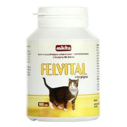MIKITA Felvital + LECYTYNA witaminy dla kota 100 smakowitych tabletek Sucha karma