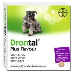 BAYER DRONTAL Dog Flavour 150/144/50 mg tabletki na odrobaczenie dla psów Smakołyki