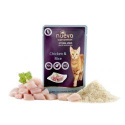 Nuevo Sterilized Gluten Free Kurczak + Ryż 85g dla kotów po sterylizacji
