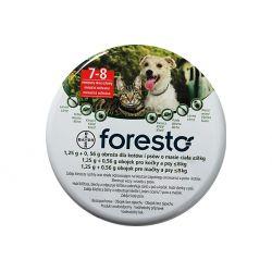 Bayer Foresto obroża przeciw pchłom i kleszczom dla kotów i psów do 8kg wagi ciała, 38cm, działa do 8 miesięcy