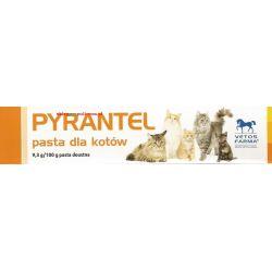PYRANTEL pasta dla kotów na odrobaczanie - do stosowania doustnego Puszki i saszetki