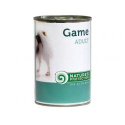 Natures Protection Dog Adult dziczyzna 400g - karma mokra dla dorosłych psów z dziczyzną 70% Sucha karma