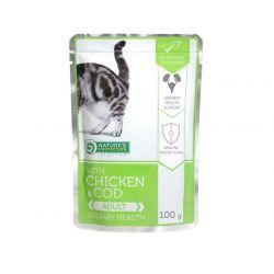 Natures Protection Chicken & Cod Adult URINARY health saszetka 100g Puszki i saszetki