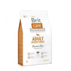 Brit Care Adult Medium Breed Lamb & Rice 3kg - karma dla dorosłych psów średnich ras Zwierzęta
