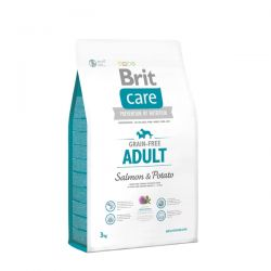 Brit Care Grain Free Adult Salmon & Potato 3kg - karma dla dorosłych psów bogata w łososia Zwierzęta