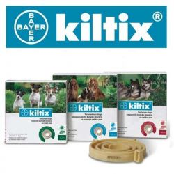 Bayer Kiltix - obroża przeciw pchłom i kleszczom dla psów, rozmiar M, ŚREDNIA 53cm Zwierzęta