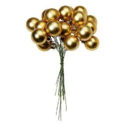 Deko-Woerner Weihn.kugel 3cm matt dkl.gold