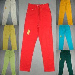 spodnie dżinsy wysoki stan STRESS pas 62 cm kolory