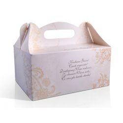 Pudełka na ciasto weselne komunię chrzest 13wzorów Ślub i wesele