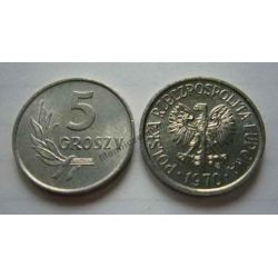 5 gr groszy 1970 mennicza mennicze