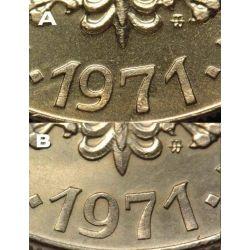 10 zł Kościuszko 1971 mennicza mennicze TYP A UNC