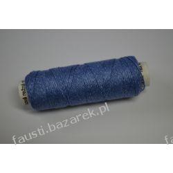 Lniane Nici Niebieskie 50m Rękodzieło