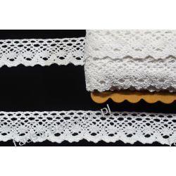 Koronka Bawełniana Biała 35mm/22mb (kb#242b) Koronki i hafty