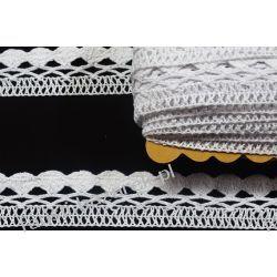 Koronka Bawełniana Biała 35mm/22mb Koronki i hafty