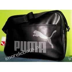Torba Puma Campus Reporter na ramię / czarna listonoszka