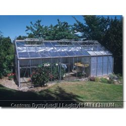 Szklarnia Gardener - Ogrodnik 36 m2 (srebrna, poliwęglan 6mm) ...
