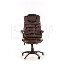 Fotel biurowy Manager - brązowy...