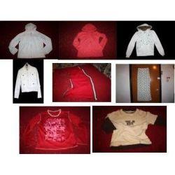 Komplet: bluzy z kapturem, spódnice,kurtki,bluzki