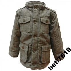 UK markowa OCIEPLANA kurtka 140 PARKA jesień zima