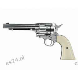 "Wiatrówka - rewolwer Colt Single Action Army Nickel .45 5,5"" Diabolo 4,5 mm (5.8322)"