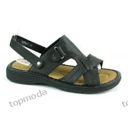 Sandały/Klapki Sport NA LATO czarne (M87)
