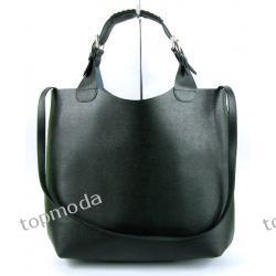 SUPER HICIOR !! DUŻA TORBA ITALY SKÓRA 100% black duża torba groszkowa KOLOR czarny (TD1127)