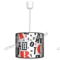 Lampa wisząca Retro Typografii Lampy