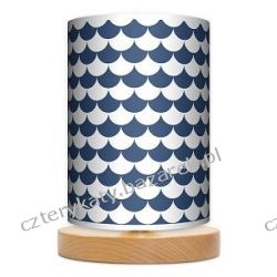 Lampa stojąca mała Łuska blue Grzejniki