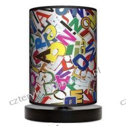 Lampa stojąca mała Litery Wyposażenie