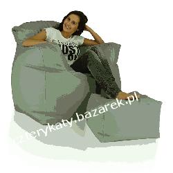 Fotel Classic XXL + podnóżek Dom i Ogród