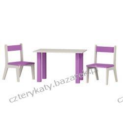 Stolik i dwa krzesełka - komplet Regały i półki