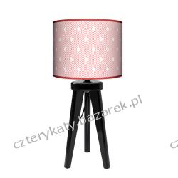 Lampa trójnóg mała Różowa Romby Wyposażenie