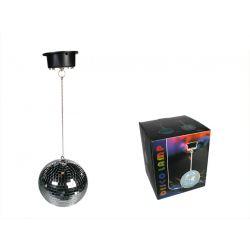 Kula dyskotekowa 20 cm z silnikiem i LED