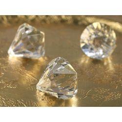 Zawieszki Diamenty, bezbarwny 31x37 5 szt WESELE
