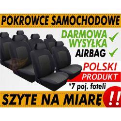 POKROWCE NA MIARĘ SEAT ALHAMBRA 7 OS 1996-2010 kpl