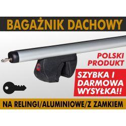 Skoda Fabia II od 08/ Bagażnik dachowy RELINGI ALU