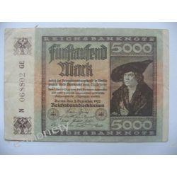 Niemcy 5000 MAREK 1922
